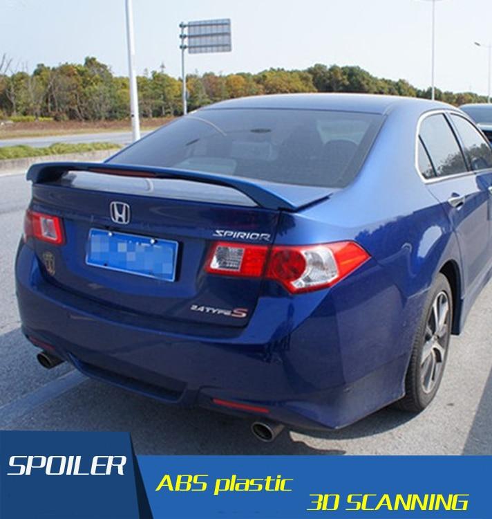 For Spirior Acura TSX Spoiler ABS Material Car Rear Wing