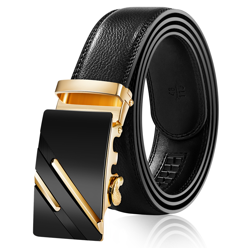 Mens Business Style Belt Designer Leather Strap Male Belt Automatic Buckle Belts For Men Top Quality Girdle Belts For Jeans(China)