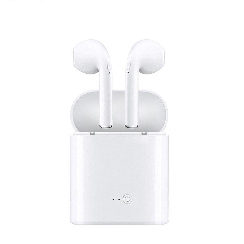 MICGEEK Bluetooth Wireless Headset auricular con cargador caja para apple i7s TWS auriculares Bluetooth auriculares estéreo fone de ouvido