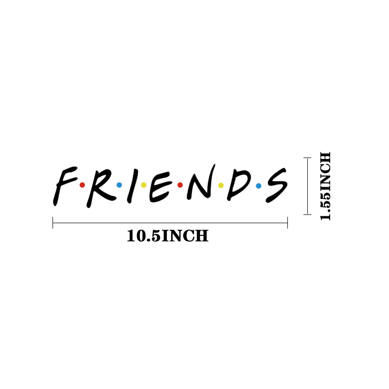 Friends letter Heat Transfer Patch DIY Sticker Iron on Washable Durable badges for Clothes T shirt Customize Custom Design E0607 in Patches from Home Garden