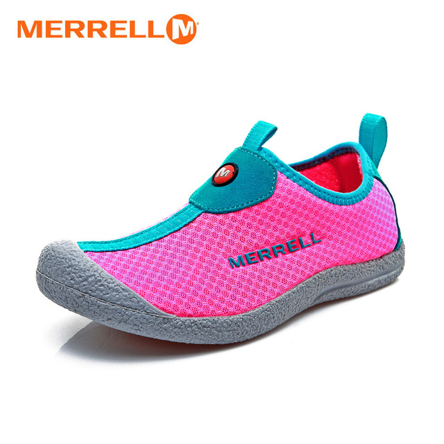 d11176c9cc US $46.0 |Original Merrell Breathable Women Lovely Air Mesh Outdoor Slip On  Aqua Shoes For Female Pink Light Sport Water Beach Sneakers-in Upstream ...