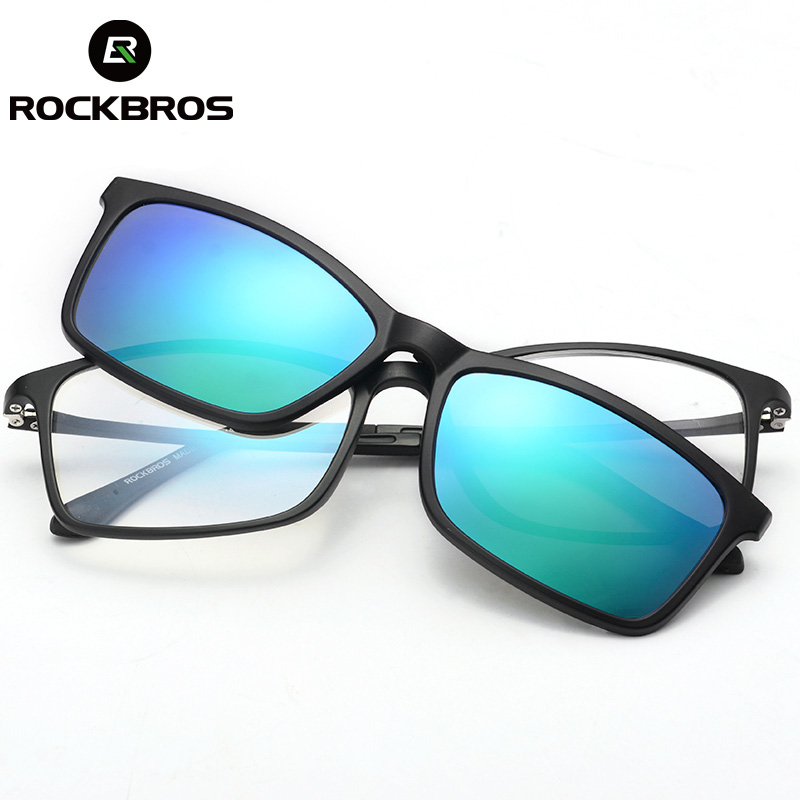 ROCKBROS Customized Myopia Sunglasses UV400 Nearsighted Glasses Double Lens Polarized Lens Driving Cycling Bike Bicycle Eyewear