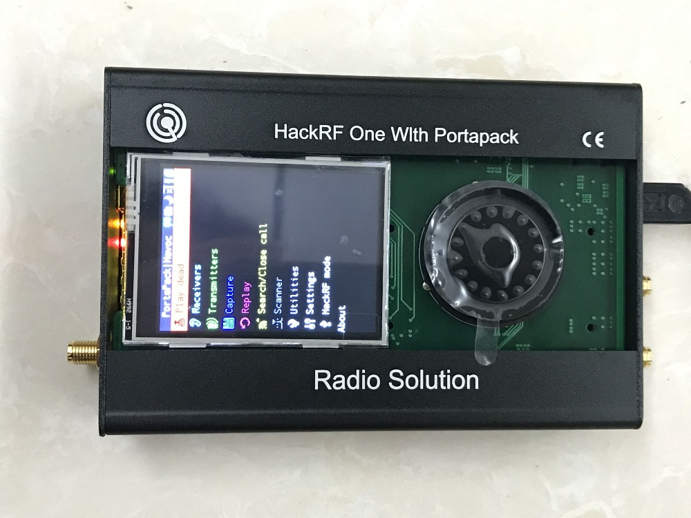 2019 Latest Version PORTAPACK + HACKRF ONE 1MHz To 6GHz SDR Software Defined Radio + Metal Case + 0.5ppm TXCO