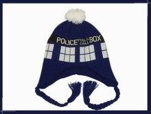 Доктор кто тардис полиция коробка теплые мягкие косплей вязание шляпа