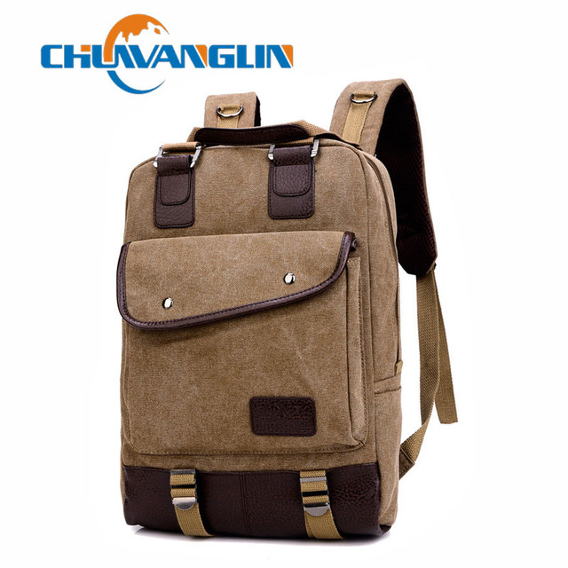 Chuwanglin Vintage Women Canvas Backpack Teenager Girl Men Casual Student  School Bag Fashion Travel Rucksacks Laptop Bag ZDD2212 b4303dcf248de