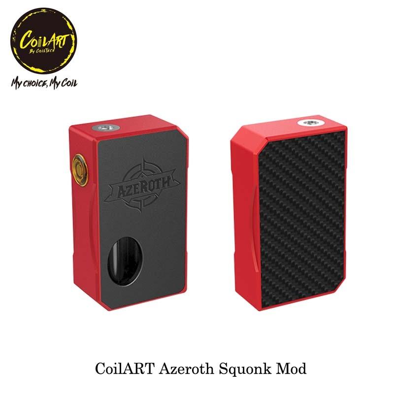 D'origine CoilART Azeroth Squonk Mod elektronik sigara Vaporisateur boîte mod Compatible avec 18650/20700/21700 batterie Fit RDTA RTA RDA