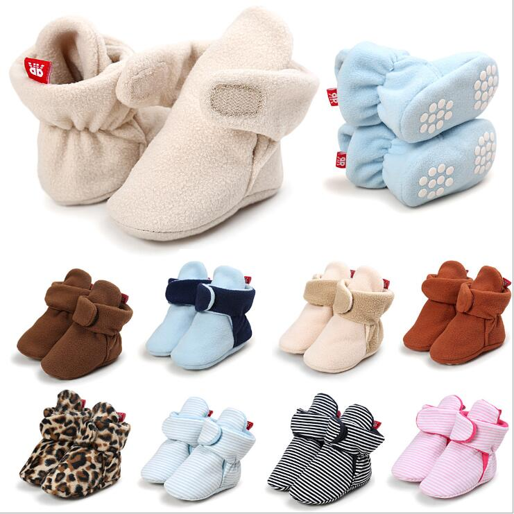 ROMIRUS New Baby Shoes Newborn Cozie Faux Fleece Bootie Warm Infant Toddler Crib Shoes Classic Floor Boys Girls Indoor Shoes