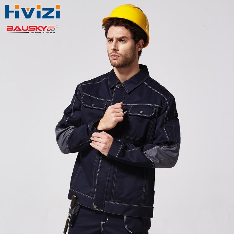 Mens Primavera Outono Jaqueta Multi-bolsos Roupas de Trabalho Workwear Uniformes Mecânico Masculino Jaquetas de Trabalho de Construção B212