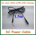 2 pcs DC Power Connector carregador cabo para Acer Iconia Tab A510 A700 A701 Tablet PC adaptador de alimentação Jack cabo DC cabo