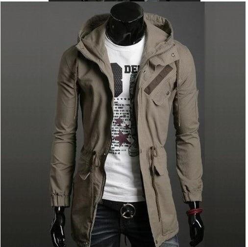 New arrival Fashion Man's long Jacket male cotton coat winter coat