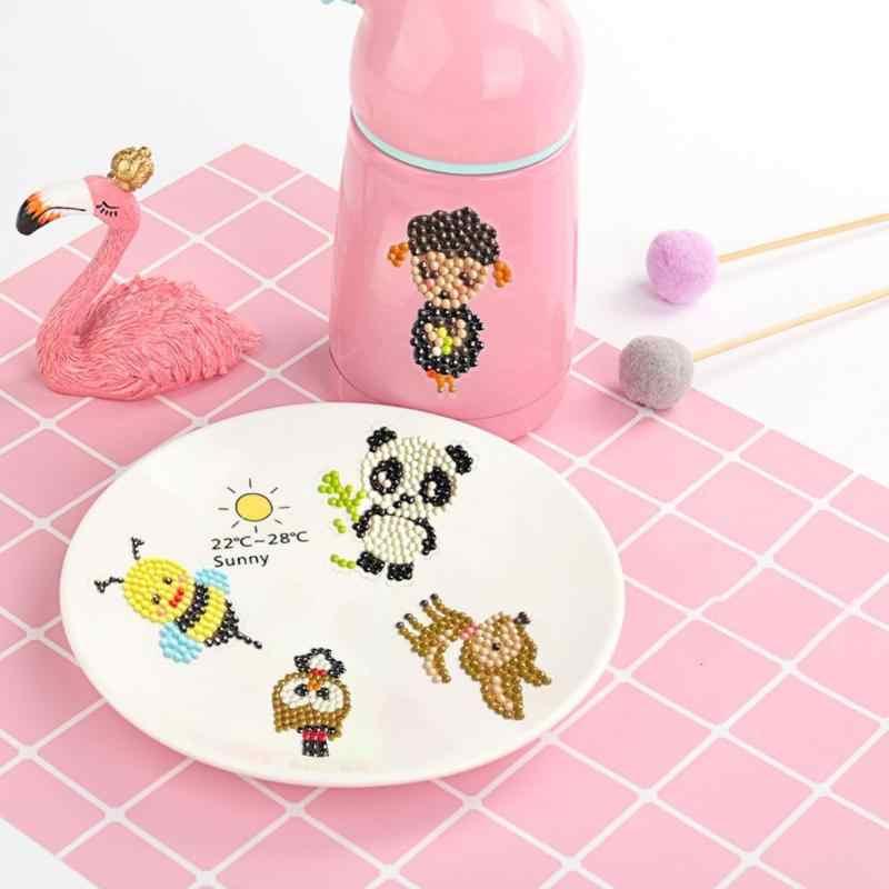 Bricolage plein forage diamant peinture Kits animaux enfants rond diamant autocollants broderie point de croix artisanat enfants jouet