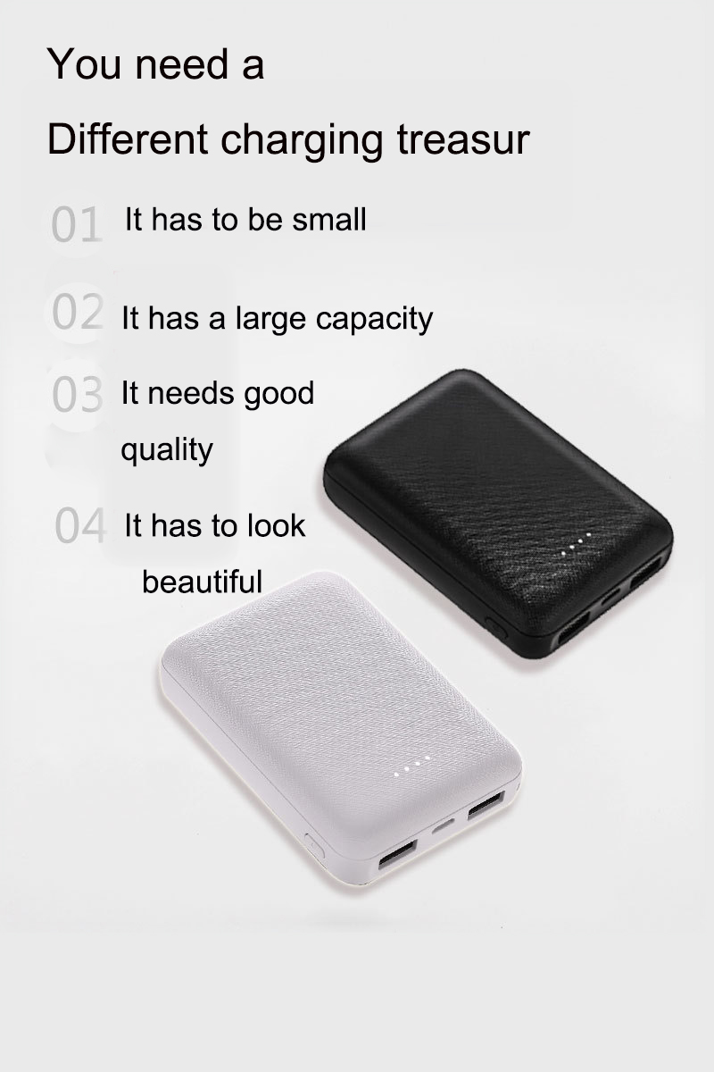 Small Portable 10000mAh Charging Power Bank For Xiaomi Mobile Phones 8