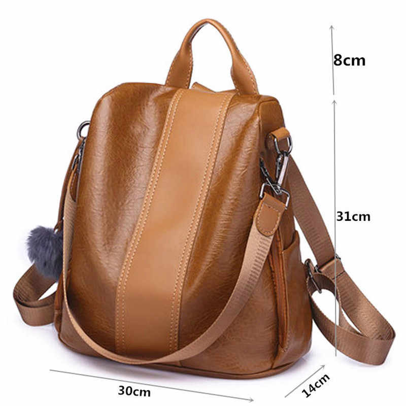 daa85366cd44 New fashion casual pu women anti-theft backpack 2019 hight quality vintage  backpacks female larger capacity travel shoulder bag