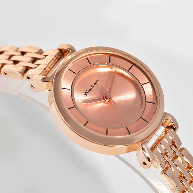 2017 Fashion Rose Gold Watches Women Top Brand Luxury Small Dial Wristwatches Stainless Steel Bracelet Quartz-watch Montre Femme kimio exquisite zircon small dial hand chain bracelet watch strap rose gold quartz watch women clock womens watches top brand