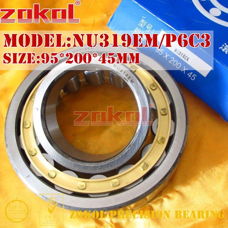 ZOKOL NU319 E M P6 C3 bearing NU319EM P6 C3 3G32319EH/P6C3 Cylindrical roller bearing 95*200*45mm zokol nj238 e m bearing nj238em c3 3g42238eh cylindrical roller bearing 190 340 55mm