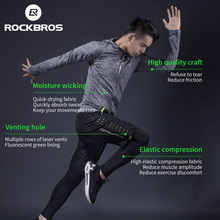 ROCKBROS Sportswear Fitness Gym Training Breathable Suit Sweat-absorbent Quick Drying Running Elasticity Shirt Sports Equipment