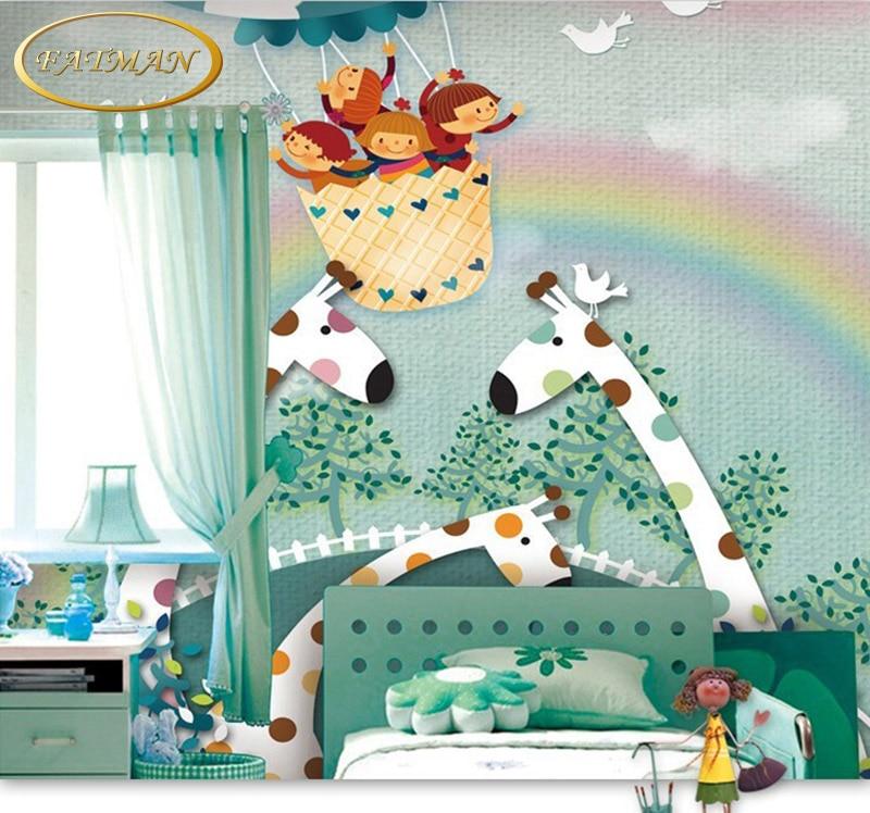Custom 3D photo wallpaper lovely deer children room wallpaper cartoon boy and girl mural wallpaper mural papel de parede brand new compatible tlplw9 shp86 projector lamp for toshiba tdp t95 tdp tw95 tlp t95 tlp tw95 tdp t95 tdp tw95 tlp t95 tlp tw95