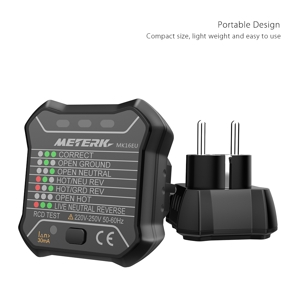 Erweiterte RCD Steckdose Tester Automatische Neutral Live Erde Draht Testing Elektrische Autoschlussdetektor Wandstecker Breaker Finder