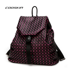 Cooskin мода женщины бао бао геометрическая сумка рюкзак марка знаменитый логотип мешок световой рюкзак бао бао luxurywomen мешок