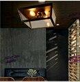 Американский кантри Ретро промышленный ветер потолочные светильники Лофт Железный стеклянный ящик 1/2/3/4/6 головки.