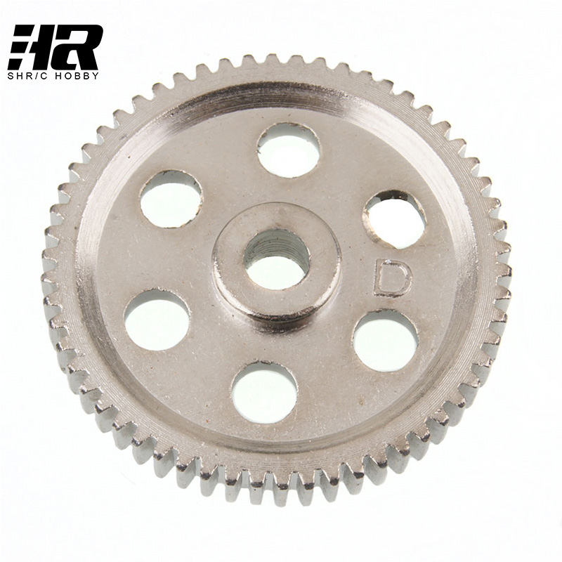 Free Shipping 03004 58T 0.6M Spur main gears Differential gear for HSP 1/10 RC On road Car Drift car 94103 94123 03004 free shipping hsp 1 10 speed reduction gear set differential gear box 02126 spare parts fit for 94101 1 10 rc car