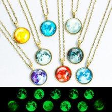 d50edf546e4e De doble cara colgante bola de cristal gemas de tiempo universo de encargo  hecho a mano de la estrella collar