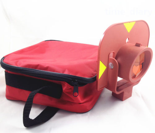 New Red single prism for leica type total stations surveying цена