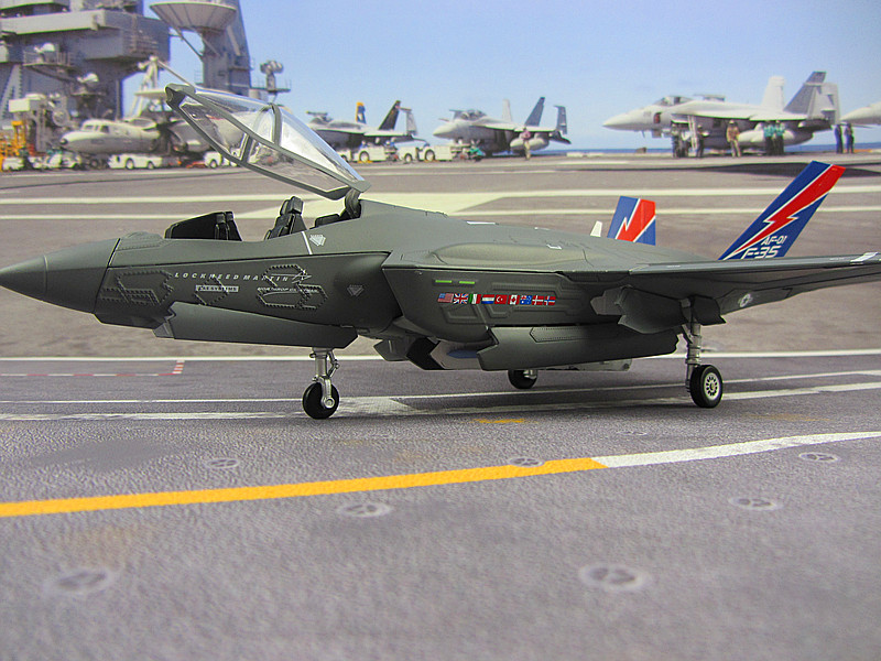 US Airforce F35 AF1 stealth fighter model F35 alloy aircraft simulation model collection and display 1:48