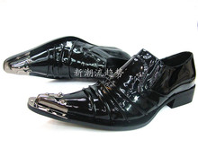 Italian Formal Men Dress Shoes Genuine Leather Pointed Toe Business Wedding Oxford Shoes Men Flats Black Sliver Big Size 38-46