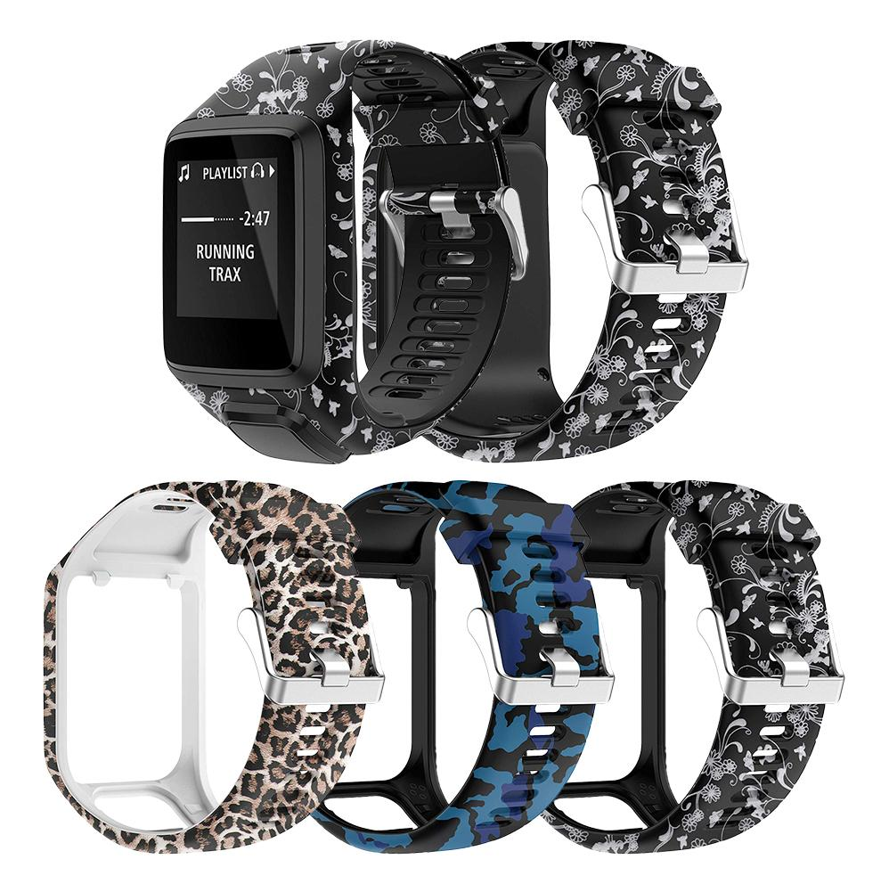 Printed Watchband Wrist Band Strap for TomTom 2 3 Series Runner 2 3 Spark Series Golfer 2 Adventurer GPS Watch Accessories