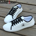 Global Lover 2016 Summer Men Shoes White Casual Shoes Male Adult Shoes Flat White All Match Tide Fashion Brand Man Skater Shoes