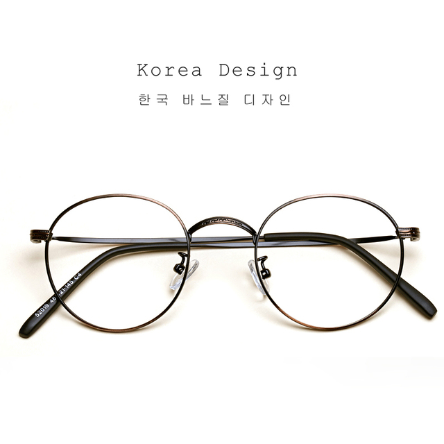 da86a39a0a LIYUE Vintage Round Glasses Frame women Brand designer myopia Spectacles  Frame Prescription Eye Glasses men Nerd