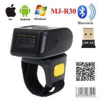 Eyoyo MJ-R30 Portatile Bluetooth Anello 2D Scanner Lettore di Codici A Barre Per IOS Android Finestre PDF417 DM Codice QR 2D Scanner Senza Fili