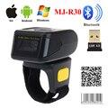 MJ-R30 Bluetooth portátil anillo 2D escáner de código de barras lector para IOS, Android y Windows PDF417 DM código QR 2D escáner inalámbrico