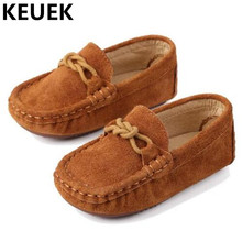 NEW Fashion Slip-On Loafers Children Genuine Leather Baby Toddler Shoes Boys Girls Casual Shoes Kids Flats Spring/Autumn 044