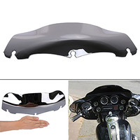 High Quality PVC Plastic Chrome Motorcycle 7 Wave Windshield Windscreen For Harley Touring FLHX FLHT 2014