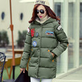 2017 Cold winter coat women long coat women winter coat Cotton hooded thick warm Parkas Female Padded Jacket