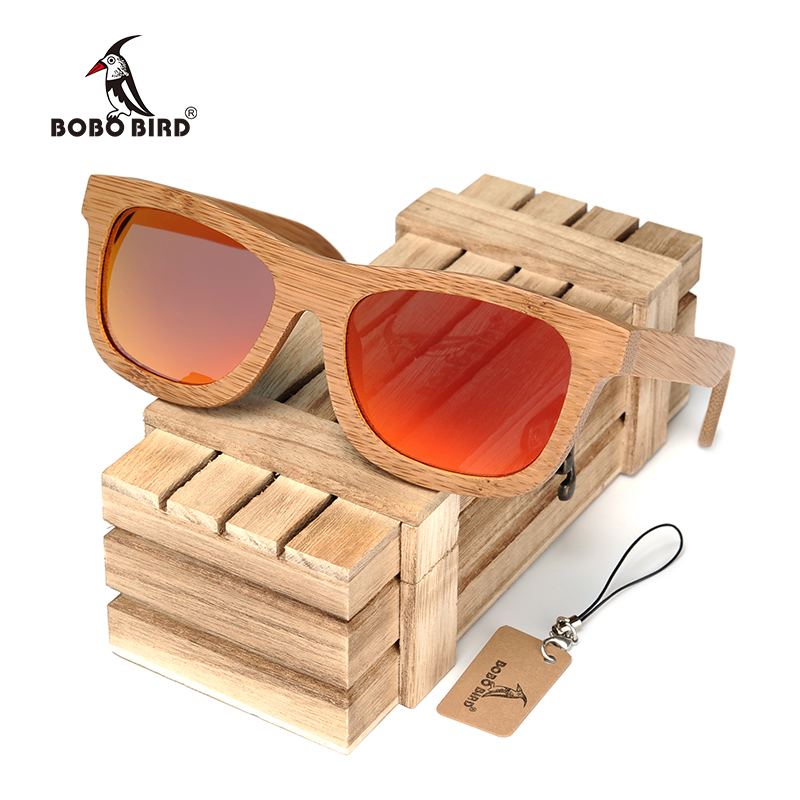 BOBO BIRD Vintage Bamboo Wooden Sunglasses [Handmade | Polarized | Mirror]