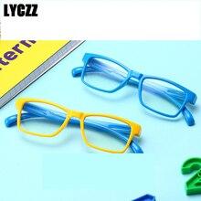 5d714326fc LYCZZ Anti azul rayos niños gafas de protección gafas de computadora de  juegos de silicona irrompible marcos receta Eyewears