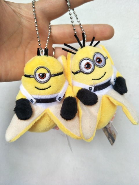 DHL200pcs 10cm Minions Bob Kevin Stuart Plush Animal Toy Movie Minions  Pendant Kids Gift Baby Toy