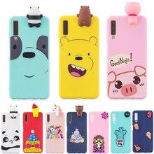 Phone Cases sFor Funda Samsung Galaxy A7 2018 case For Coque A750 3D Cartoon Silicone Soft cover On