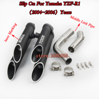 R1 Slip On Full System YZF R1 Motorcycle TOCE Exhaust Modified Middle Link Pipe Muffler With For YAMAHA R1 2004 06 07 08 09 14