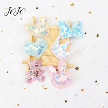 JOJO BOWS 10pcs Sequin Patches For Clothing Crown Mickey Rabbit Bear Accessories DIY Craft Supplies Shoe Garment Decoration