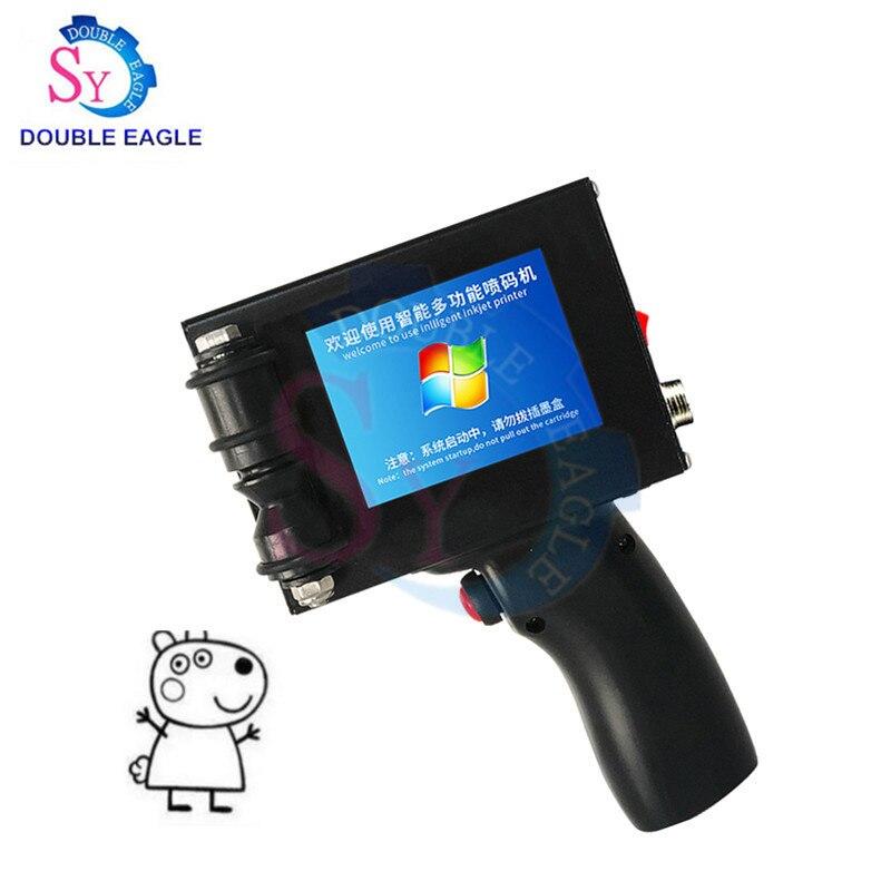 Best selling supermarket label print number smart handheld bar code inkjet printer/cap production date manual coding machine