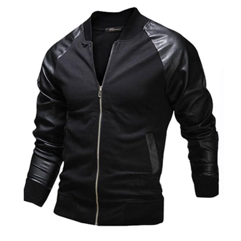 Popular Mens Varsity Leather Jacket-Buy Cheap Mens Varsity Leather ...