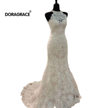 Doragrace vestidos de noiva Mermaid Wedding Dresses Lace Bridal Gowns