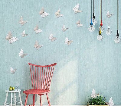 12Pcs Creative 3D Butterfly Wall Stickers Decal Hollow out Removable DIY Gold Silver Sticker Kids Art Nursery Xmas Decoration & Online Shop 12Pcs Creative 3D Butterfly Wall Stickers Decal Hollow ...