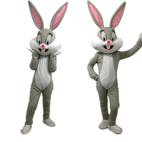 Deluxe Plush Easter Bunny Mascot Costume Bunny Costume Rabbit and Bugs Bunny Adult mascot for sale