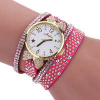 2017 New Women Wristwatch Relogio Feminino Fashion Leisure Womens Quartz Watch Crystal Diamond Wrist Watch Wholesale