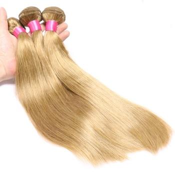 Hair Color 27 Honey Blonde Bundles Brazilian Straight Hair 10''-26'' 3 Bundles Human Hair Weave Extensions Non Remy 1